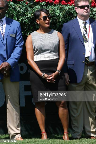 Atlanta Mayor Keisha Lance Bottoms watches the first round of the PGA Tour Championship on September 20 at East Lake Golf Club in Atlanta GA