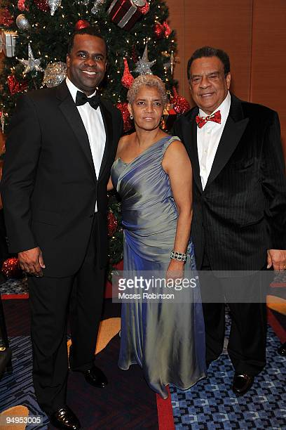 Atlanta Mayorelect Kasim Reed Atlanta Mayor Shirley Franklin and former Atlanta Mayor Andrew Young attend the 26th anniversary UNCF Mayor's Masked...