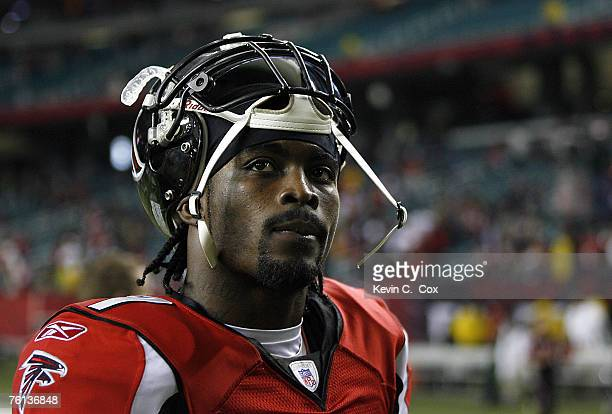 Atlanta quarterback Michael Vick leaves the field after the Falcons 103 loss to Carolina Sunday December 24 at the Georgia Dome in Atlanta Georgia