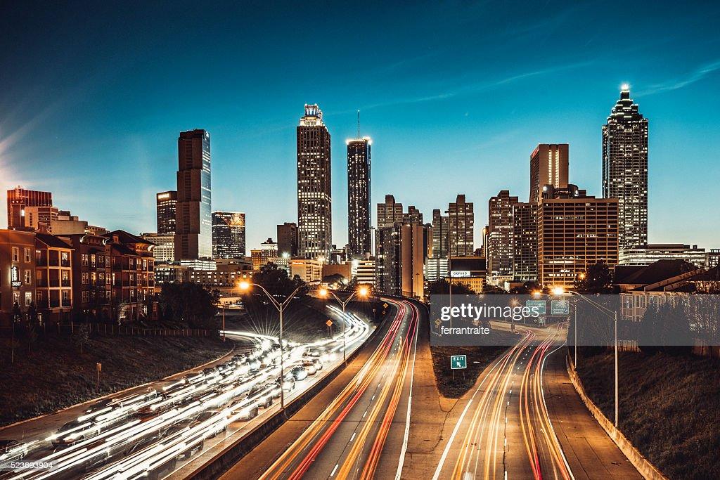Atlanta Skyline at Dusk : Stock Photo