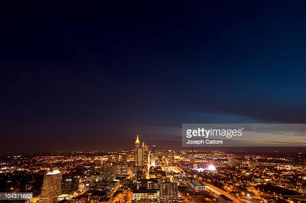 atlanta skyline from atlantic center - atlanta skyline stock pictures, royalty-free photos & images