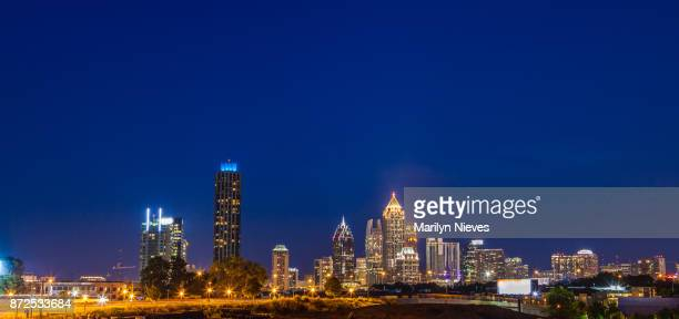 atlanta skyline - atlanta georgia stock photos and pictures