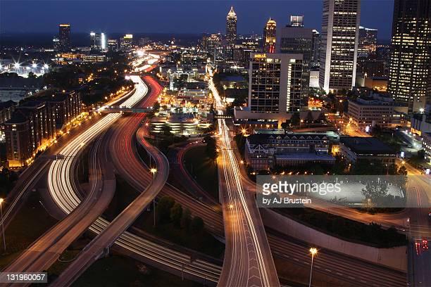 Atlanta  street at night