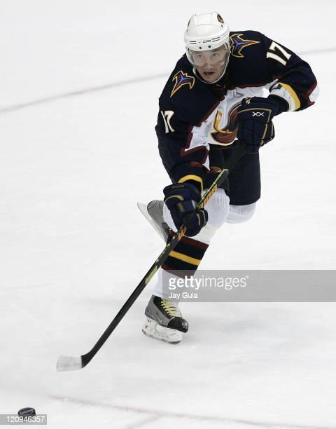Atlanta Thrashers Ilya Kovalchuk in action vs the Toronto Maple Leafs at the Air Canada Centre in Toronto, Canada. October 30, 2006.