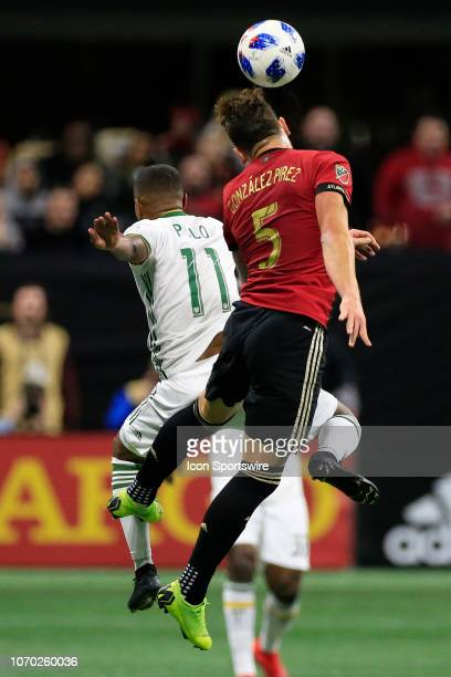 Atlanta United defender Leandro Gonzalez heads the ball during the MLS Cup between the Atlanta United FC and the Portland Timbers on December 8 2018...