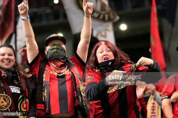 Atlanta United FC fans celebrate after winning the MLS Cup over the Portland Timbers on December 8 2018 at the MercedesBenz Stadium in Atlanta GA