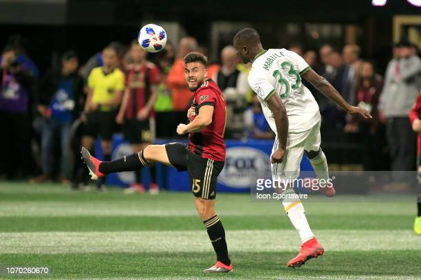 Atlanta United forward Hector Villalba and Portland Timbers defender Larrys Mabiala during the MLS Cup between the Atlanta United FC and the Portland...