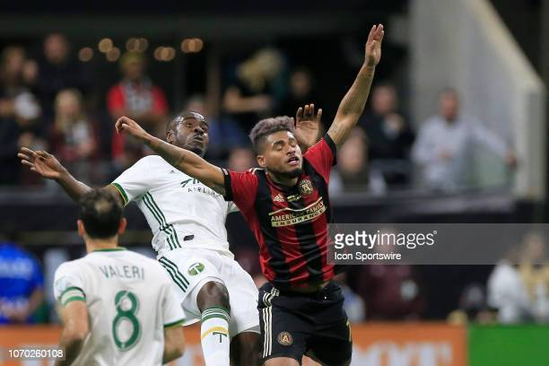 Atlanta United forward Josef Martinez reacts during the MLS Cup between the Atlanta United FC and the Portland Timbers on December 8 2018 at the...