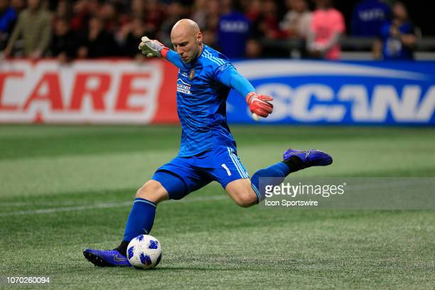 Atlanta United goalkeeper Brad Guzan during the MLS Cup between the Atlanta United FC and the Portland Timbers on December 8 2018 at the MercedesBenz...