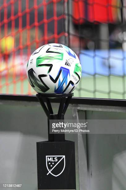 Atlanta United match ball during the match against FC Cincinnati, which Atlanta won, 2-1, in front of a crowd of 69,301 at Mercedes-Benz Stadium...