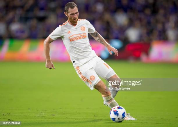 Atlanta United midfielder Eric Remedi during the MLS soccer match between the Orlando City SC and Atlanta United on August 24th 2018 at Orlando City...