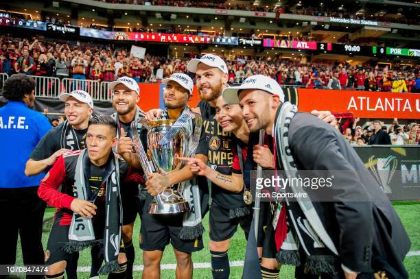 Atlanta United midfielder Ezequiel Barco Atlanta United forward Josef Martinez Atlanta United midfielder Miguel Almiron Atlanta United defender...