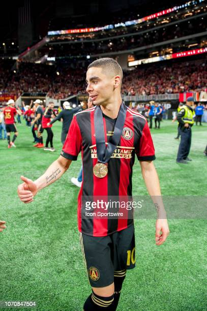 Atlanta United midfielder Miguel Almiron after the MLS Cup Finals match between Atlanta United and Portland Timbers on December 8 2018 at...