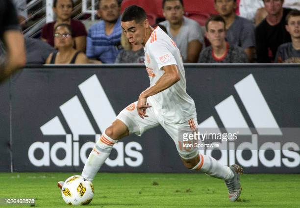 Atlanta United midfielder Miguel Almiron controls the ball during a MLS match between DC United and Atlanta United FC on September 02 at Audi Field...