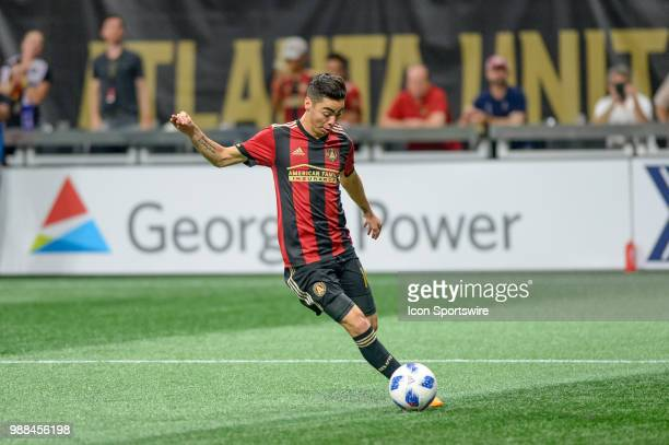 Atlanta United midfielder Miguel Almiron with during an MLS match between the Orlando City and Atlanta United FC on June 30 at MercedesBenz Stadium...