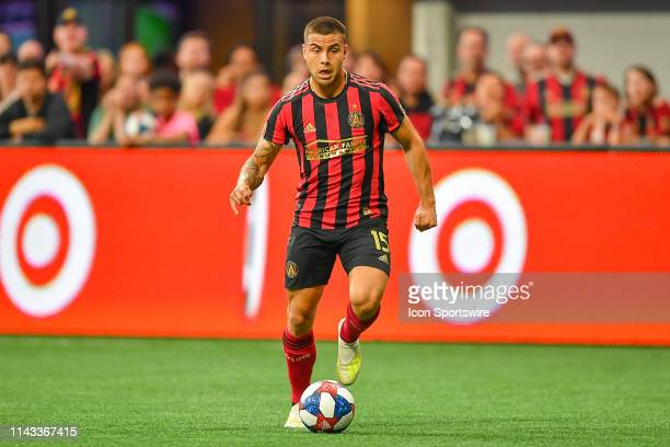 Atlanta's Hector Villalba looks to make a move during the MLS match between Orlando City SC and Atlanta United FC on May 12th 2019 at Mercedes Benz...