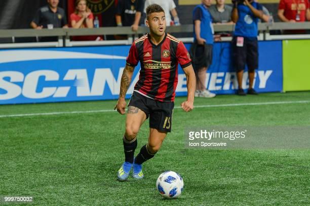 Atlanta's Hector Villalba looks to make a pass during the match between Atlanta and Seattle on July 15th 2018 at MercedesBenz Stadium in Atlanta GA...