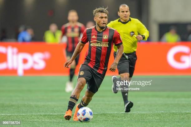 Atlanta's Josef Martinez looks to make a move during the match between Atlanta and Seattle on July 15th 2018 at MercedesBenz Stadium in Atlanta GA...