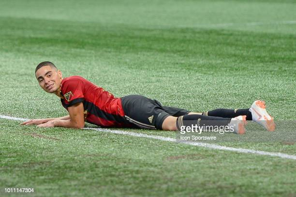 Atlanta's Miguel Almiron looks at the goal after missing a shot during the match between Atlanta United and Toronto FC on August 4th 2018 at...