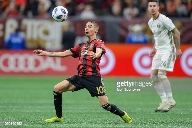 Atlanta's Miguel Almiron settles the ball during the MLS Cup between the Portland Timbers and Atlanta United FC on December 8th 2018 at MercedesBenz...