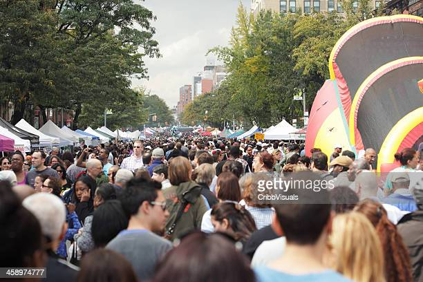 atlantic antic brooklyn street festival - festival goer stock pictures, royalty-free photos & images