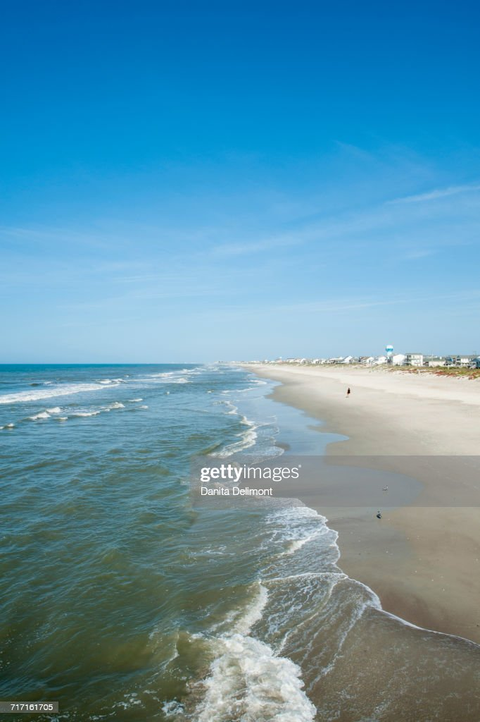 Atlantic Beach On Sunny Day Outer Banks North Carolina Usa Stock Photo