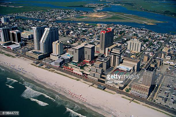 atlantic city and new jersey shoreline - atlantic city stock pictures, royalty-free photos & images