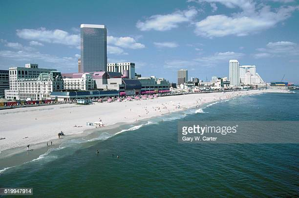 atlantic city beach - atlantic city stock pictures, royalty-free photos & images