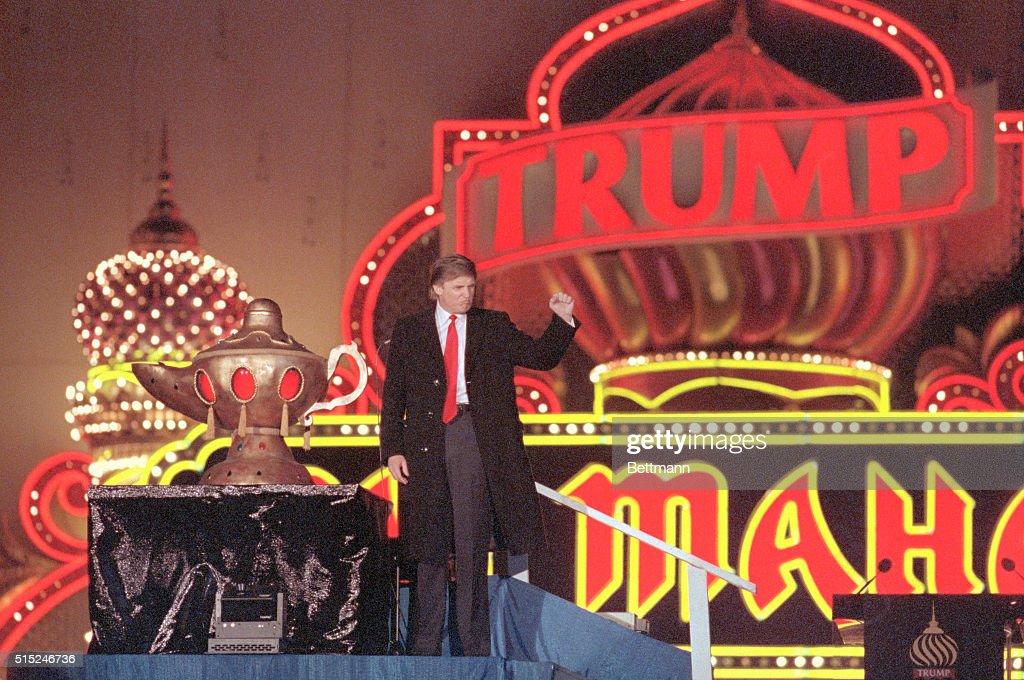 Donald Trump at the Grand Opening of Taj Mahal : News Photo