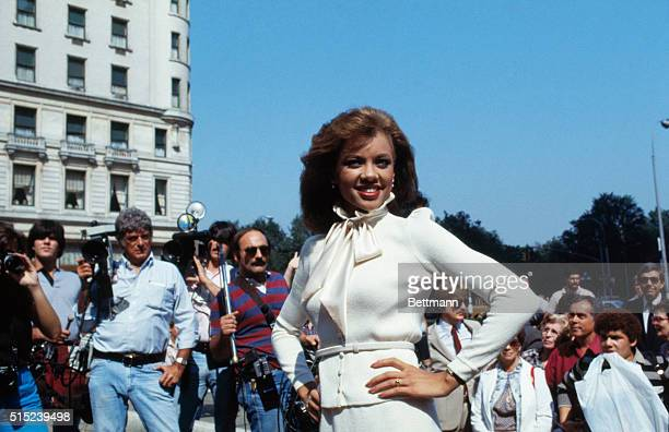Atlantic City, New Jersey: Miss American 1984, Vanessa Williams ---the first black to ever be crowned in the Pageant's 63-year-history----poses after...