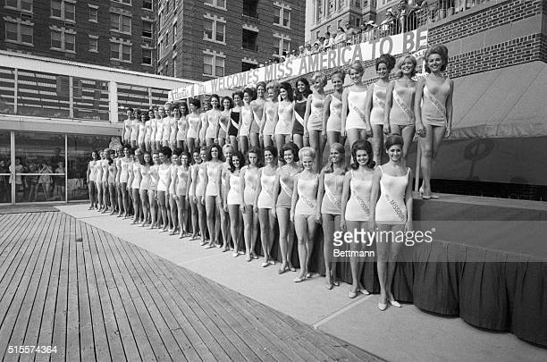 Atlantic City, N.J.: From this bevy of beautiful girls one will be chosen Miss America 1970 when the annual Beauty pageant comes to a close on Sept....