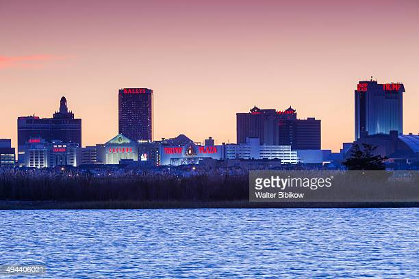 atlantic city skyine - atlantic city stock pictures, royalty-free photos & images
