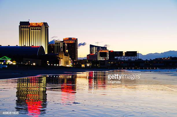 atlantic city skyline in the early morning. - ogphoto stock pictures, royalty-free photos & images