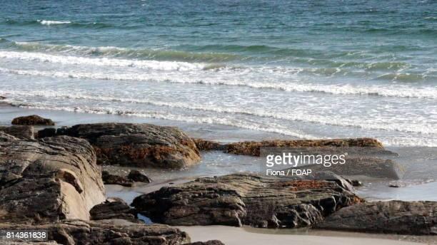 Atlantic coast and rocks at sea