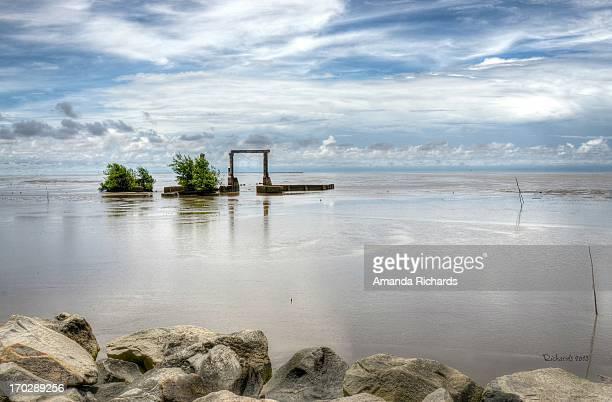 atlantic coast at mon repos, guyana - guyana stock pictures, royalty-free photos & images