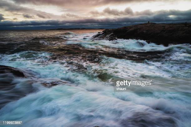 atlantic coast seascape - atlantic ocean stock pictures, royalty-free photos & images