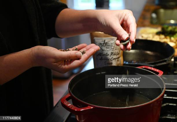 Atlantic Holdfast Seaweed Company Soup Mix is added to the broth for Korean Beef and Seaweed Soup Thursday October 10 2019