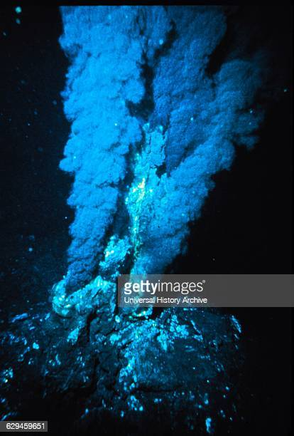 Black smoker at a midocean ridge hydrothermal vent