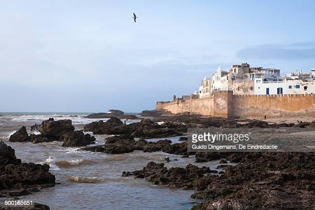 Atlantic Ocean, city walls of Essaouira