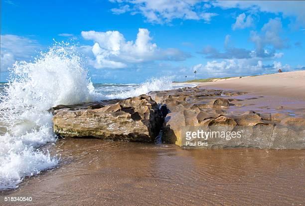 Atlantic Ocean, Costa do Sauipe, BA, Brazil