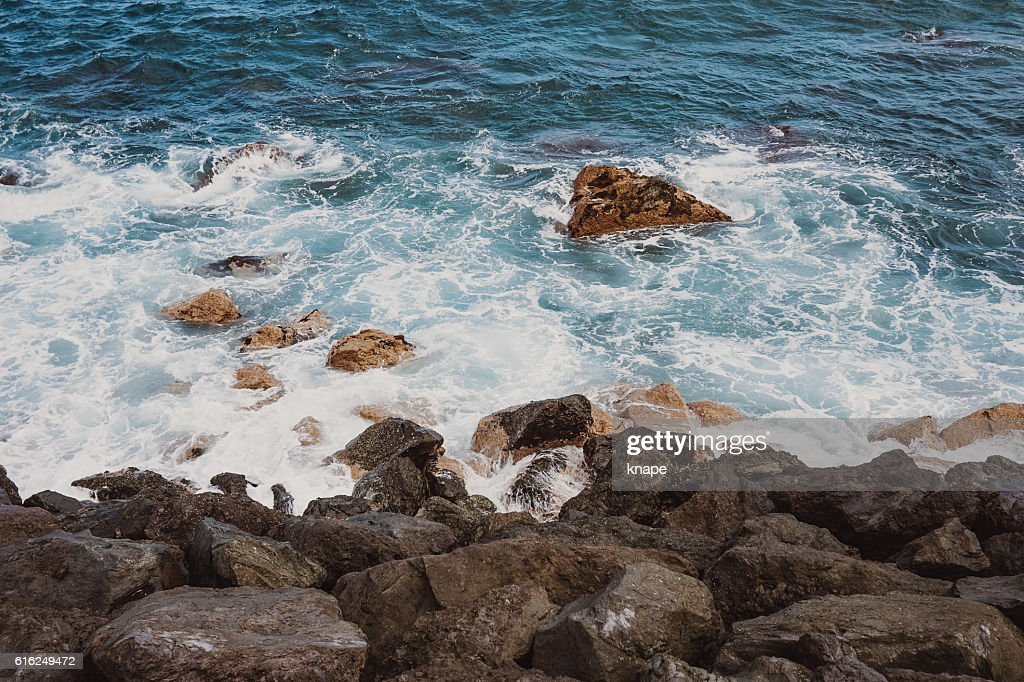 Atlantic ocean in Tenerife Spain : Stock Photo