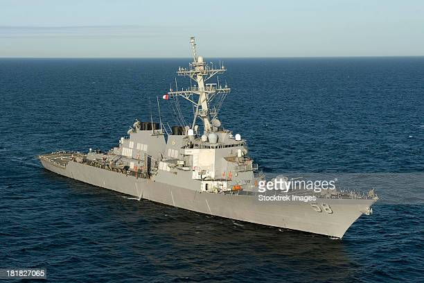 atlantic ocean, march 12, 2012 - the guided-missile destroyer uss laboon (ddg 58) is underway in the atlantic ocean. - contratorpedeiro - fotografias e filmes do acervo
