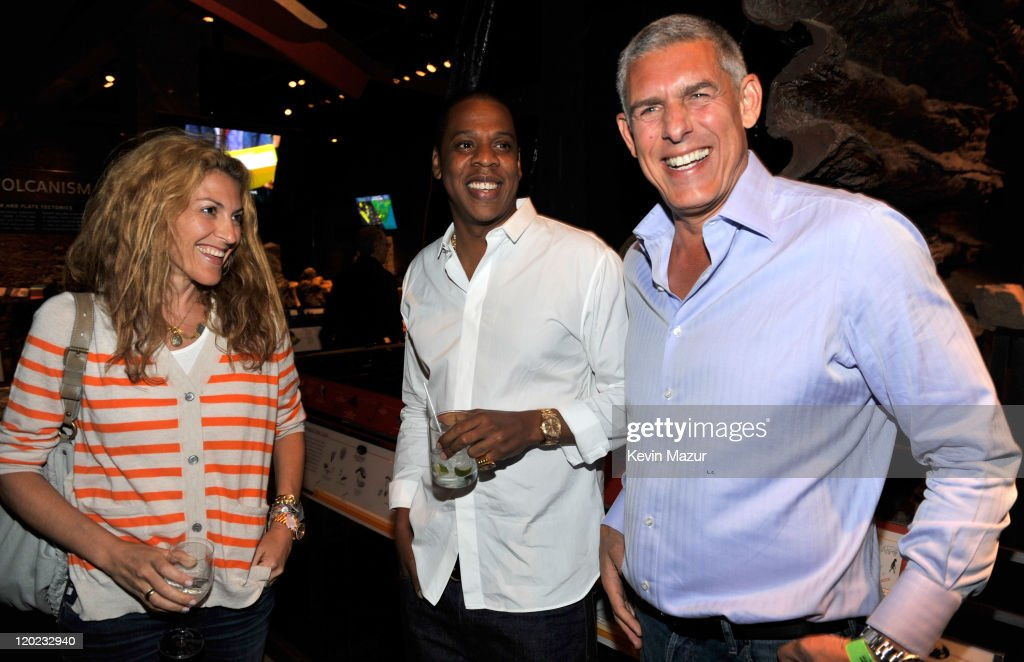 Atlantic Records Chairman Julie Greenwald, Jay-Z and Lyor Cohen attend the exclusive listening event for the highly-anticipated release by Jay-Z and Kanye West,'Watch The Throne' (Available August 8th) at the Hayden Planetarium at the American Museum of Natural History on August 1, 2011 in New York City.