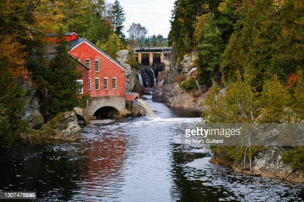 atlantic salmon ladder at st. george falls, st. george, new brunswick, canada - atlantic ocean stock pictures, royalty-free photos & images