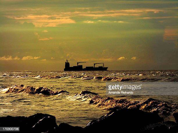atlantic sunset - guyana stock pictures, royalty-free photos & images