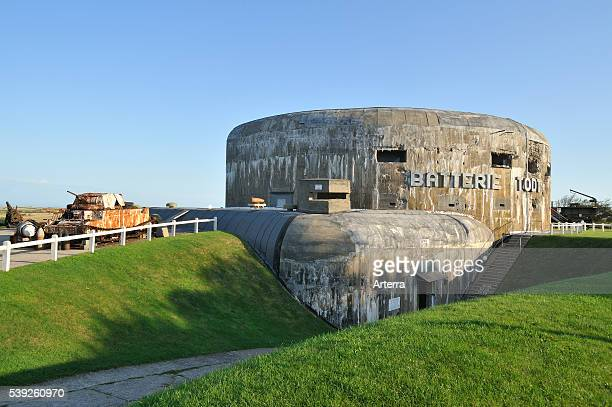 Atlantic Wall Museum with Second World War Two bunker Batterie Todt Audinghen Cote d'Opale France