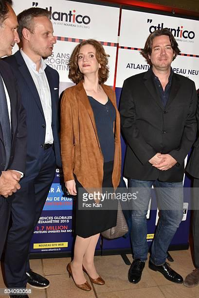 Atlantico founder Jean Sebastien Ferjou, Nathalie Kosciusko Morizet, and Atlantico Co-Founder Pierre Guyot attend Atlantico 5th Anniversary at Cafe...