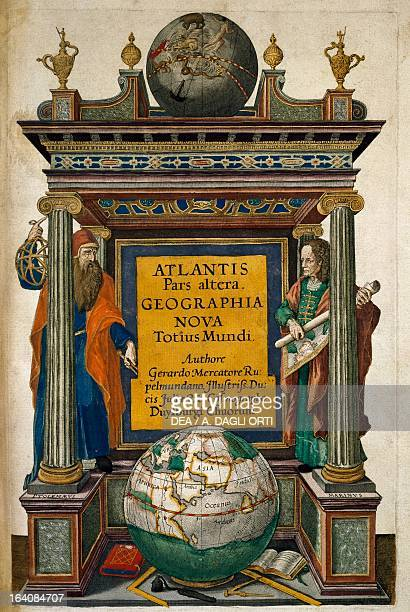 Atlantis pars alter Geographia nova totius mundi part of Atlas sive cosmographicae maditationes de fabrica mundi et fabricati figure atlas with...