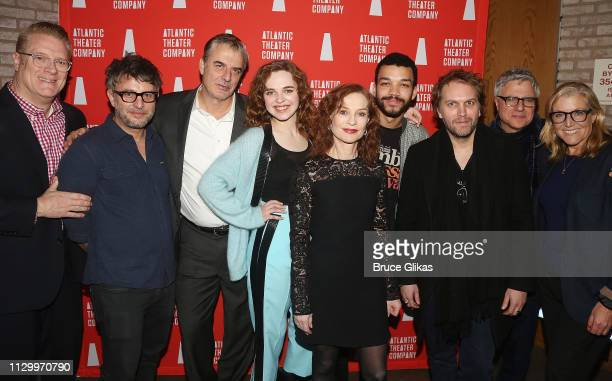 Atlantoc Theater Company's Jeffory Lawson Director Trip Cullman Chris Noth Odessa Young Isabelle Huppert Justice Smith Playwright Florian Zeller...