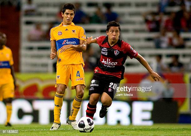Atlas' Hebert Efrain Alferez and Tigres' Jesus Molina during their match in the 2009 Opening tournament the closing stage of the Mexican Football...